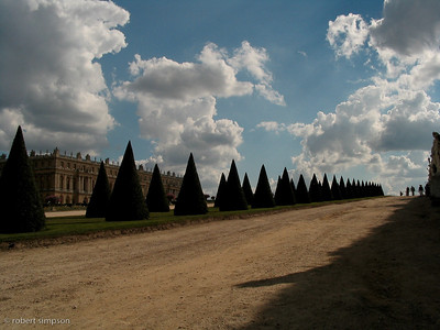 The cone hedges of Versailles, France