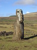 The Moai are strange stone sentinels... They stand in the silence staring over the desolate lanscape they once ruled.