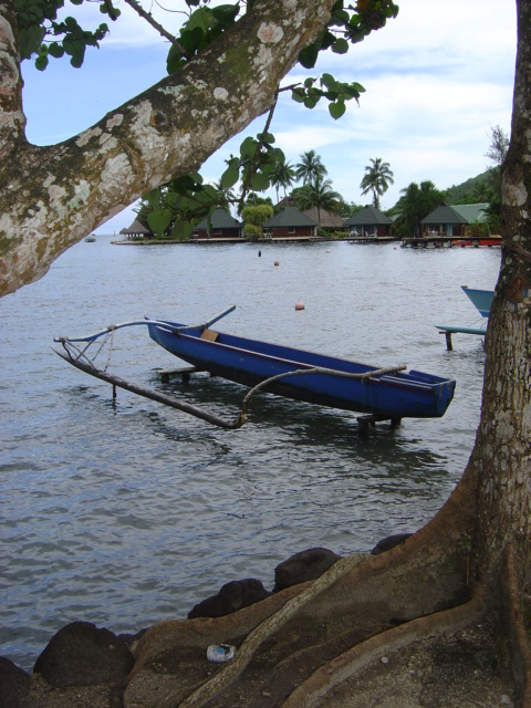 Most boats,and especially canoes, have an outrigger.