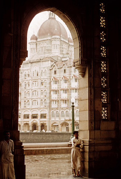 Bombai Gate and Taj Hotel - India