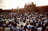 Nehru speaks at the Red Fort