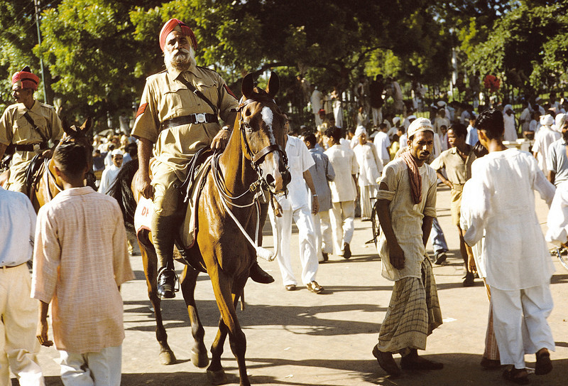 Sikh mounted polieman