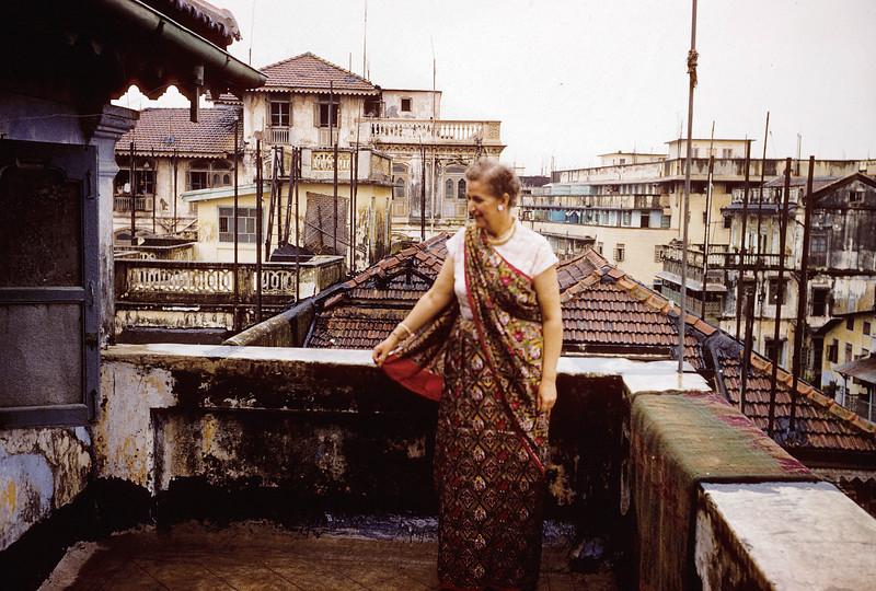My mother in a sari - Bombai