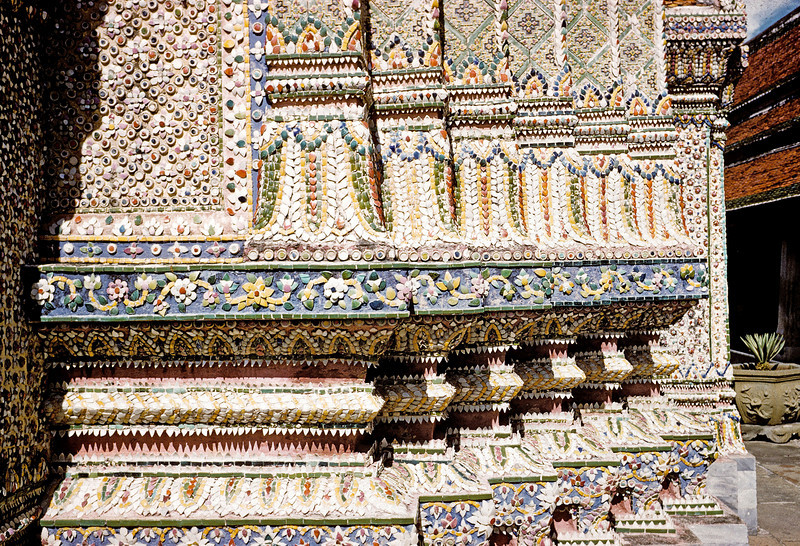 King's Palace detail - of broken crockery - Thailand