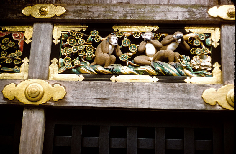 Original see-no-evil monkeys - Niko Japan