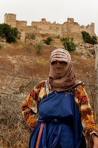 berber in front of the kasbah