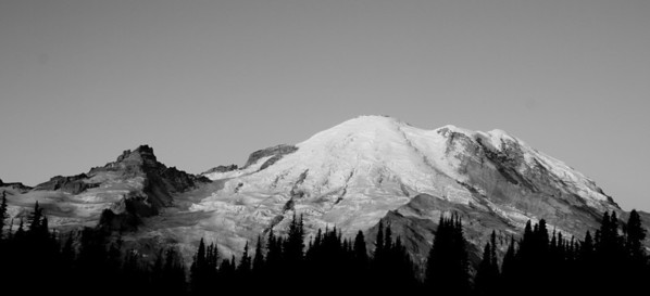 Sunrise Pt. at Sunrise, Mount Rainier, WA.