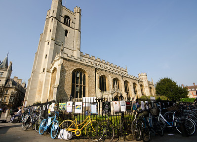 Cambridge Church and bikes