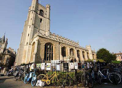 Cambridge Church and bikes