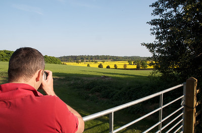 Andre photographing Rape Seed fields