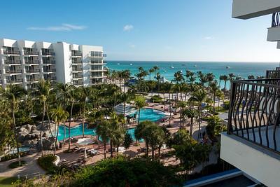 June 04 - View from room 751 of Aruba Marriott Resort