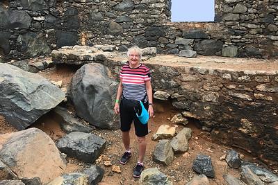 Karen inside old gold mill