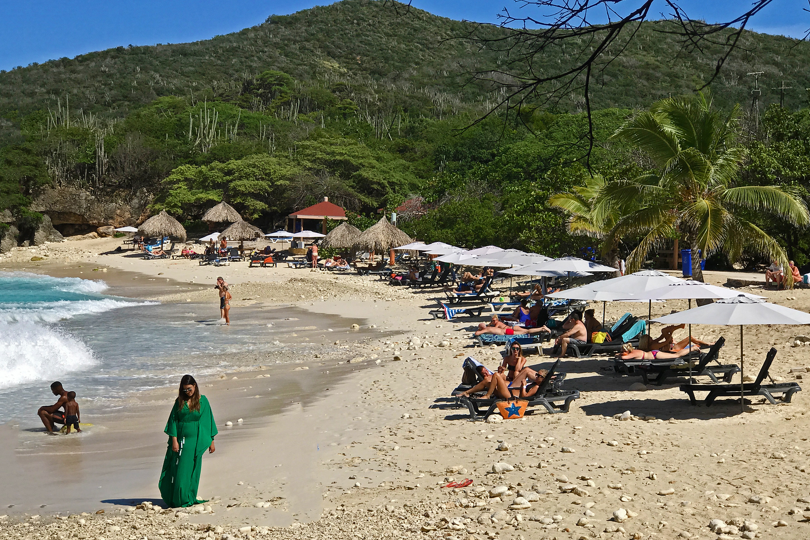 Beach along Curaçao's coast
