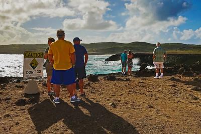 Aruba's rocky north coast