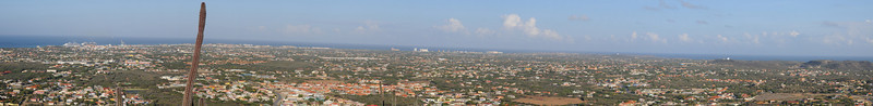 Panoramic view of Aruba from Hooiberg Hill
