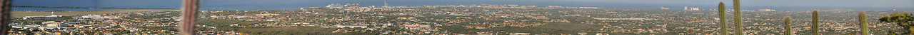 Panoramic view of Aruba from Hooiberg Hill  (Click on the picture and select O to get the original picture)
