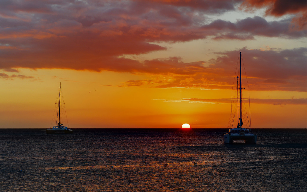 Catamaran sunset