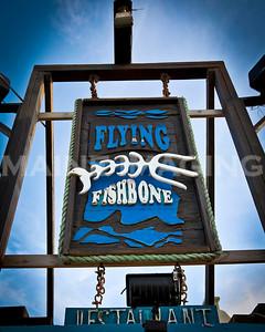 The Flying Fishbone Restaurant.  Aruba.
