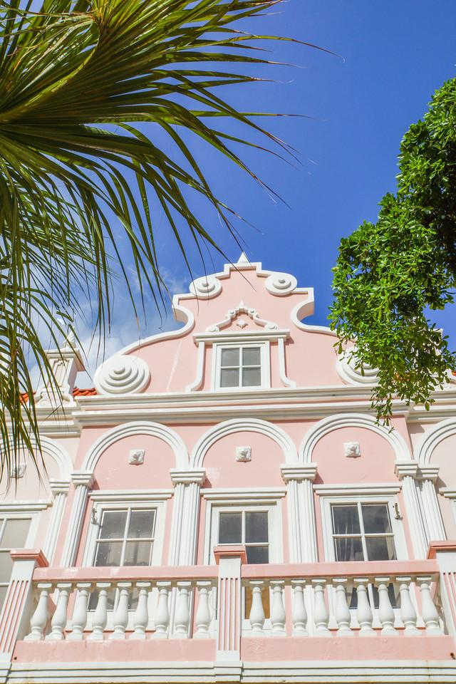 Pink Building, Oranjestad, Aruba