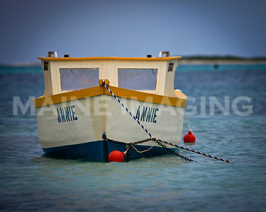 "The ""Annie"".  One of Aruba's small fishing boats."