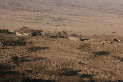 Maasi home near Ngorongoro Crater