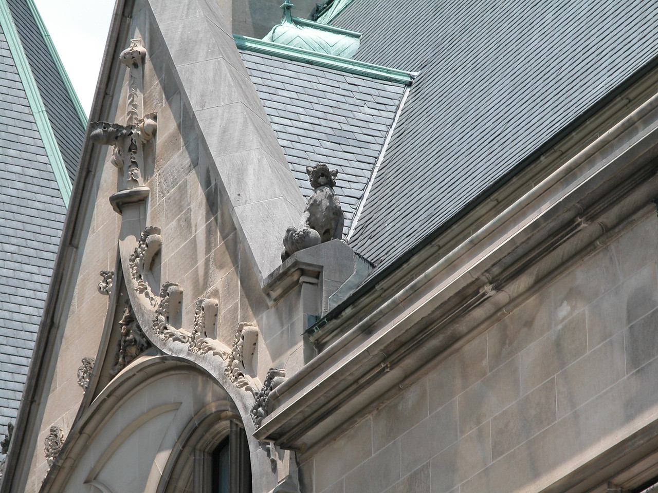 Gargoyles watch over the house.