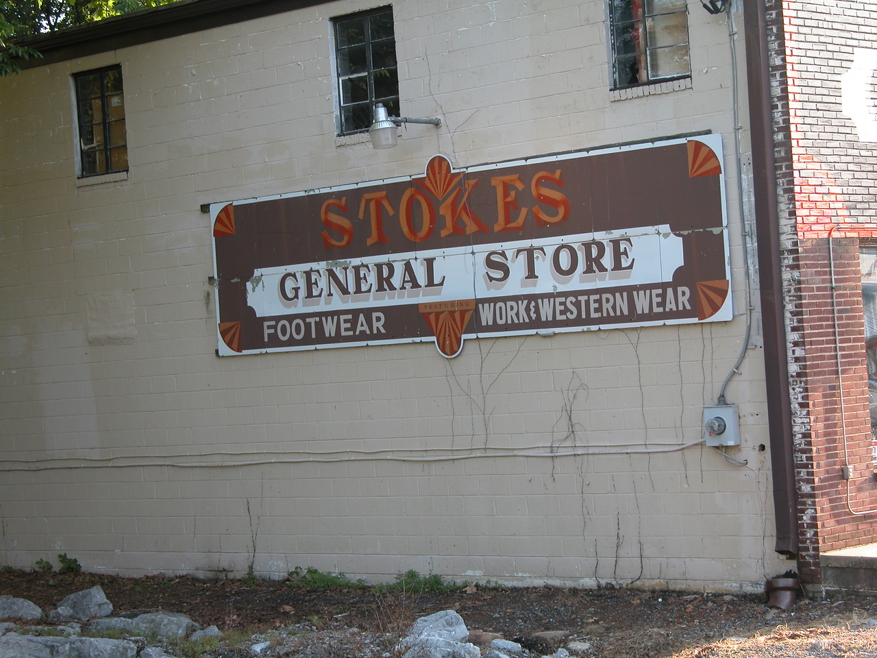 Stokes General store - I just like the sign and the colors.