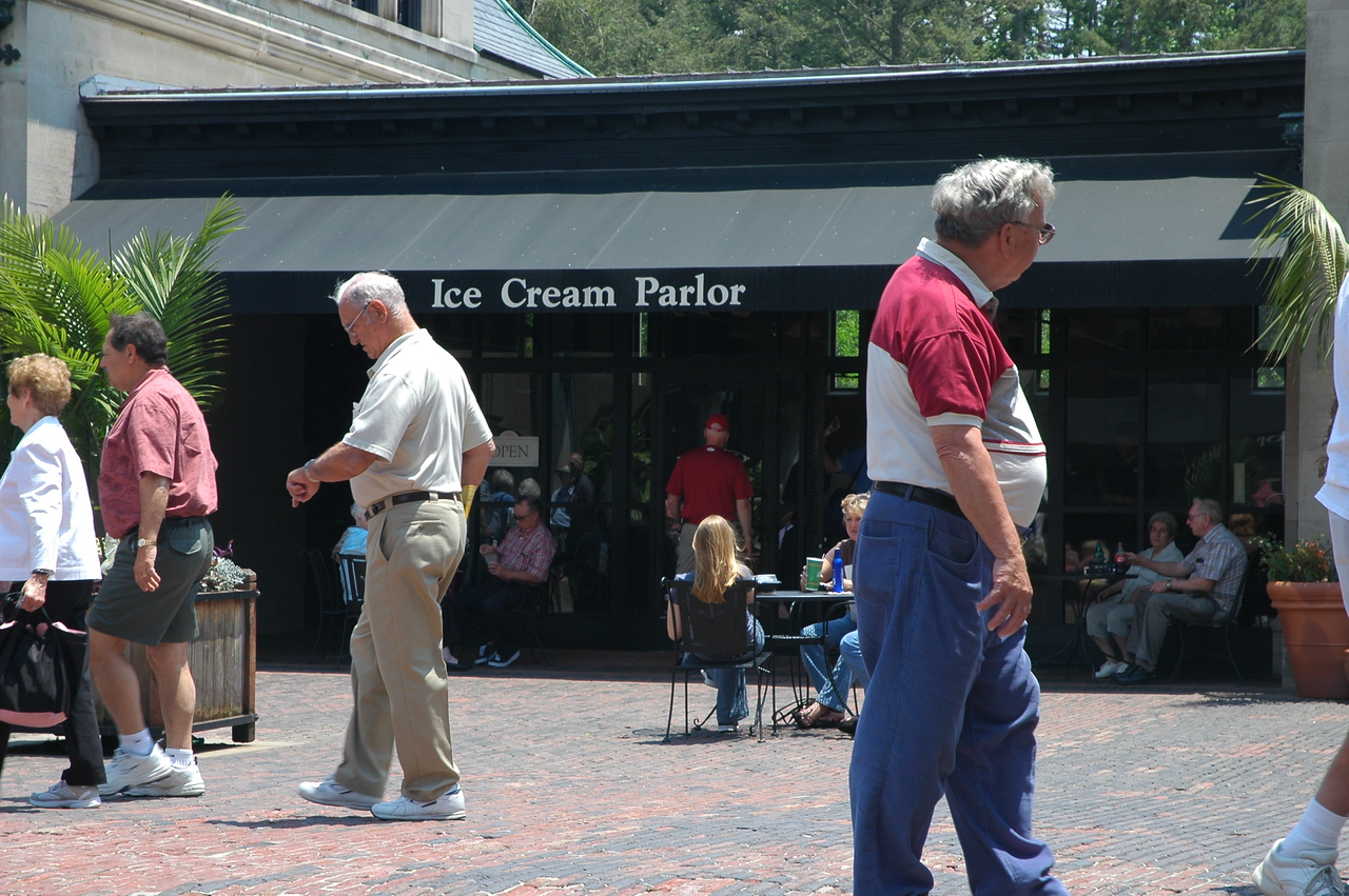 Their I go to the ice cream parlor - I just can't resist!