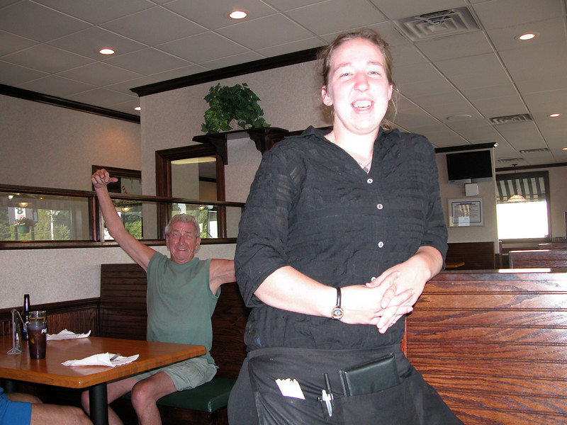 Katie took very good care of us.  The folks in the background thought we were crazy people taking pictures of our food.  Made for fun conversation.  Pretty soon the whole diner was involved in what we were up to.  Great fun and a nice group of folks who will probably be shaking their heads about those crazy Yankees for a few days.