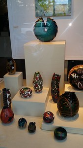 Gourds made into art