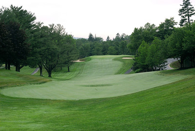 The 18th fairway and green