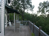 The back porch of the house we rented, Lake Lure, NC.