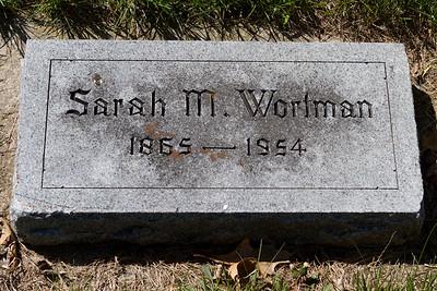 Sarah Wortman's head stone, Ashland Cemetery