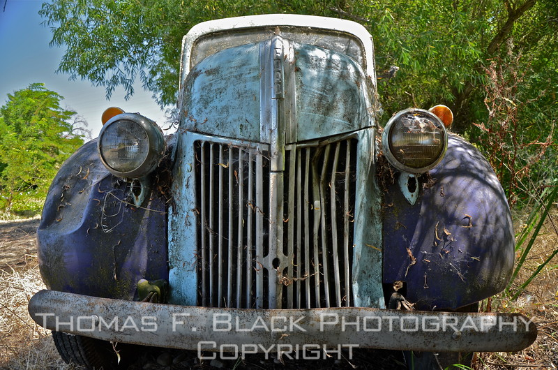 This through frame 142, early 1940s Ford truck.