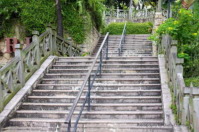 Singapore Fort Canning steps