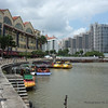 Singapore river and boat turning basin