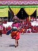 The dances tell stories from Buddhist mythology, with elaborate masks and costumes
