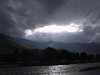 Storm brewing over Paro's river.