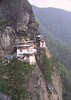 Iconic Taktshang (Tiger's Nest) monastery, reached by a hike from Paro.