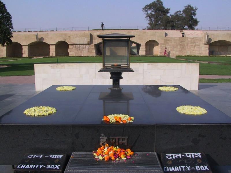 Raj Ghat, where Gandhi was cremated