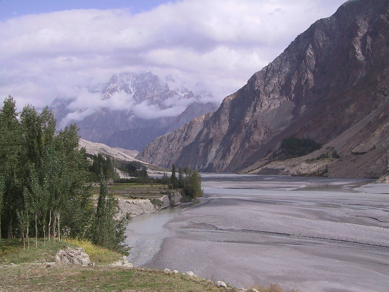 The beautiful Hunza valley in Pakistan's northeast, now accessible from the Karakoram Highway