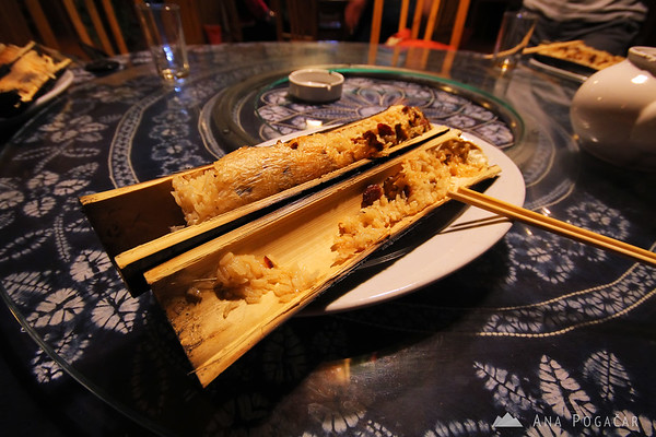 Delicious bamboo rice