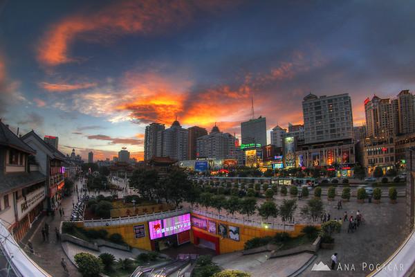 Kunming after sunset