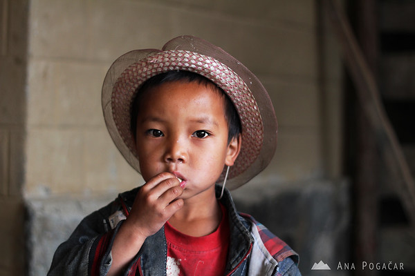 Small boy in rural China