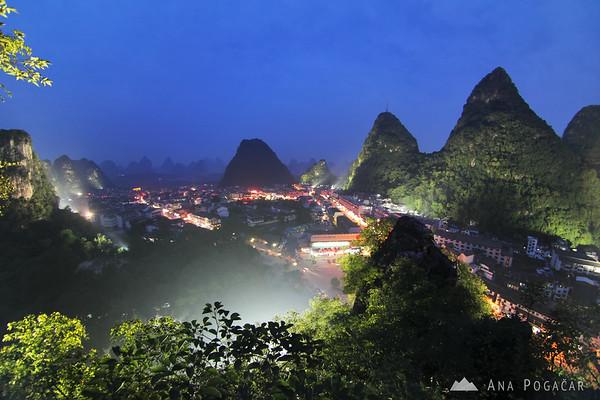Yangshuo at dusk