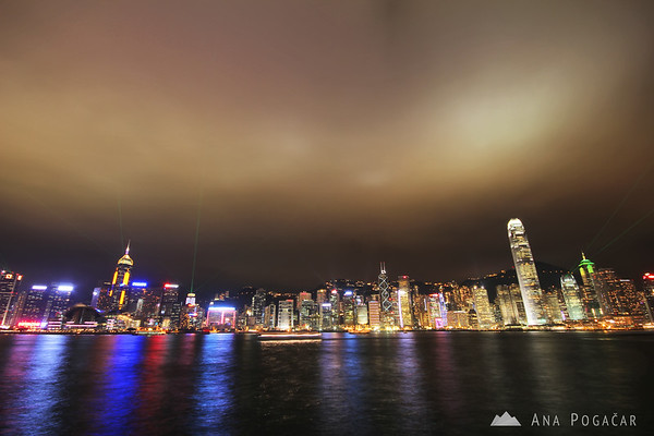 Lightshow in Hong Kong