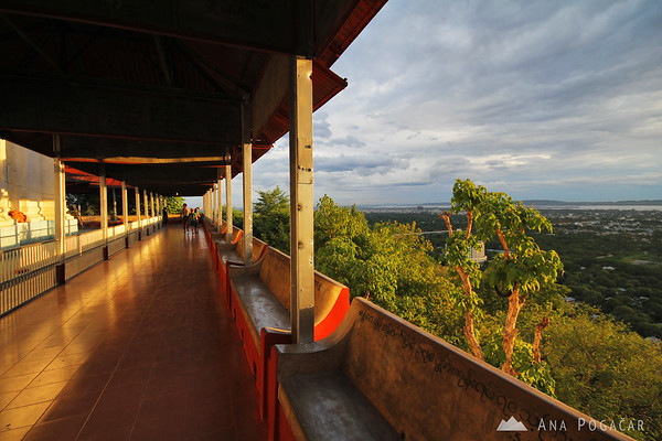 Watching the sunset from a temple on a hill above Mandalay
