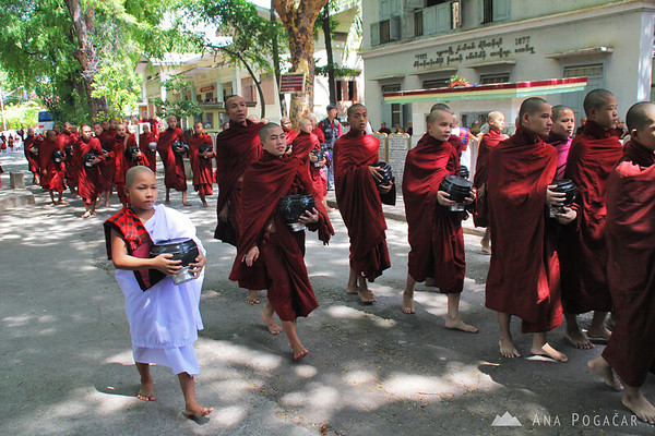 Monks at a monastery near Mandalay