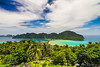 Panorama from the viewpoint on Koh Phi Phi