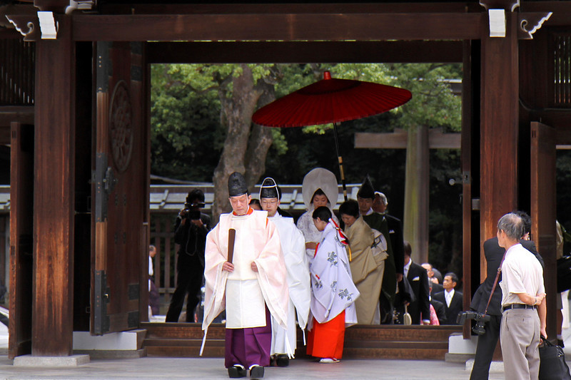 Wedding at Meiji Jingu Shrine